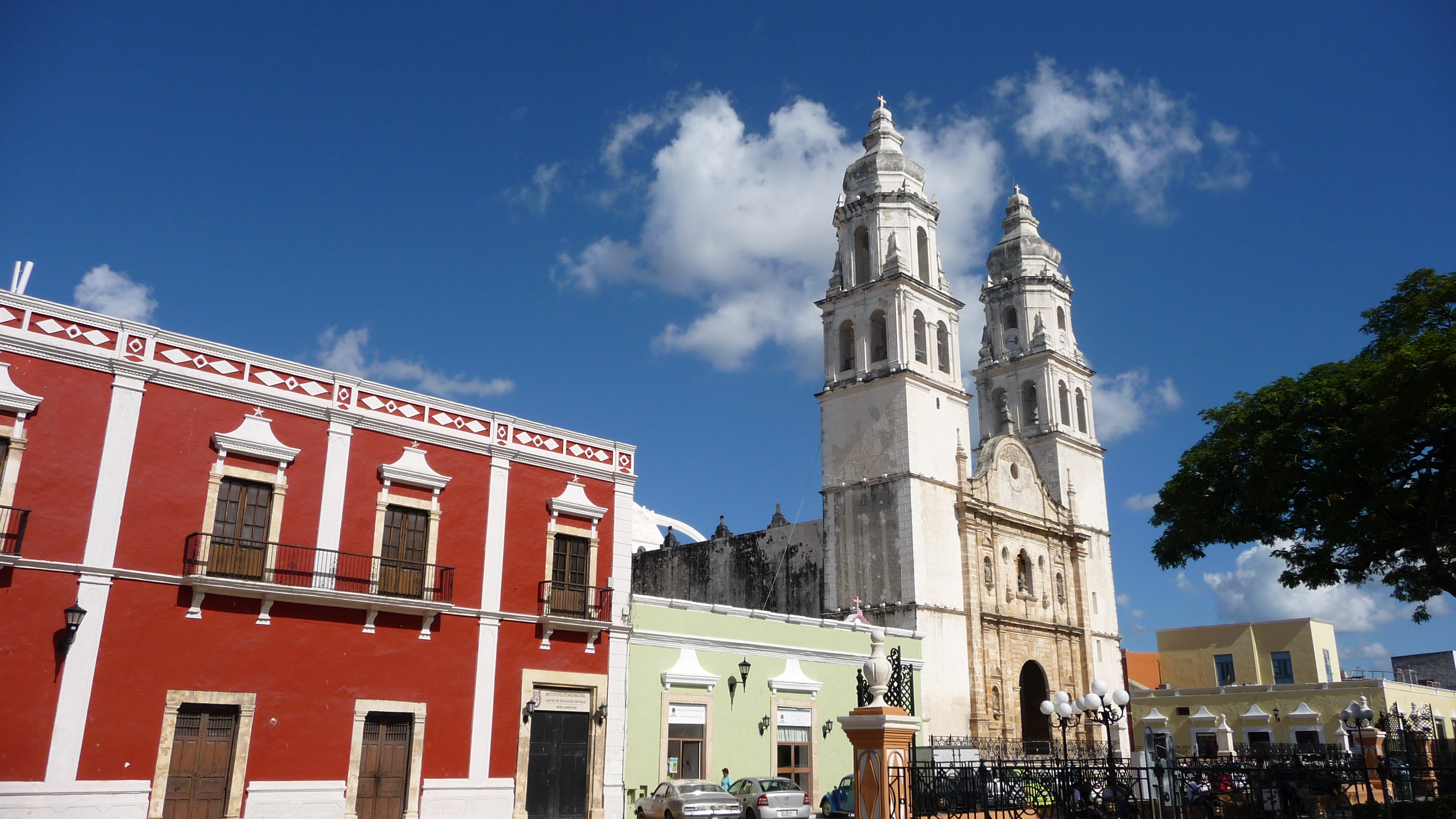 Mexikanische Kathedrale in Campeche in Yucatán