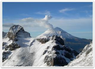 Schneebedeckte Vulkane in Mexiko
