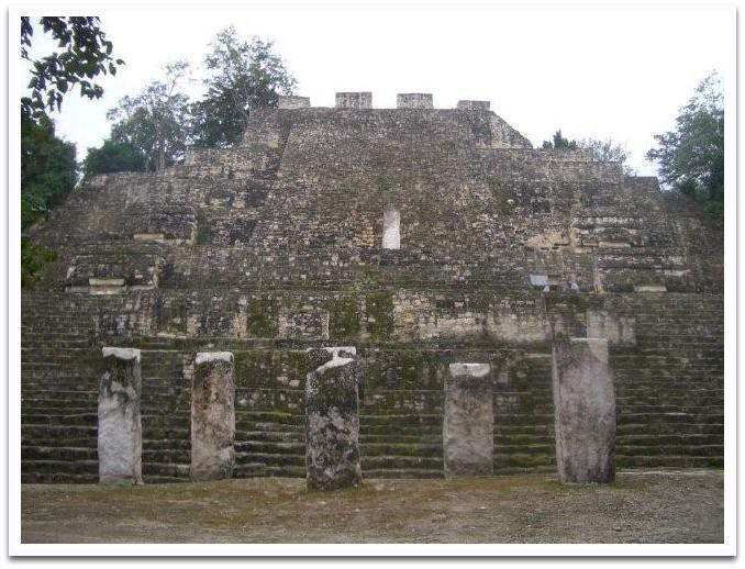 Pyramid in Calakmul, a center of power for the Maya in Campeche