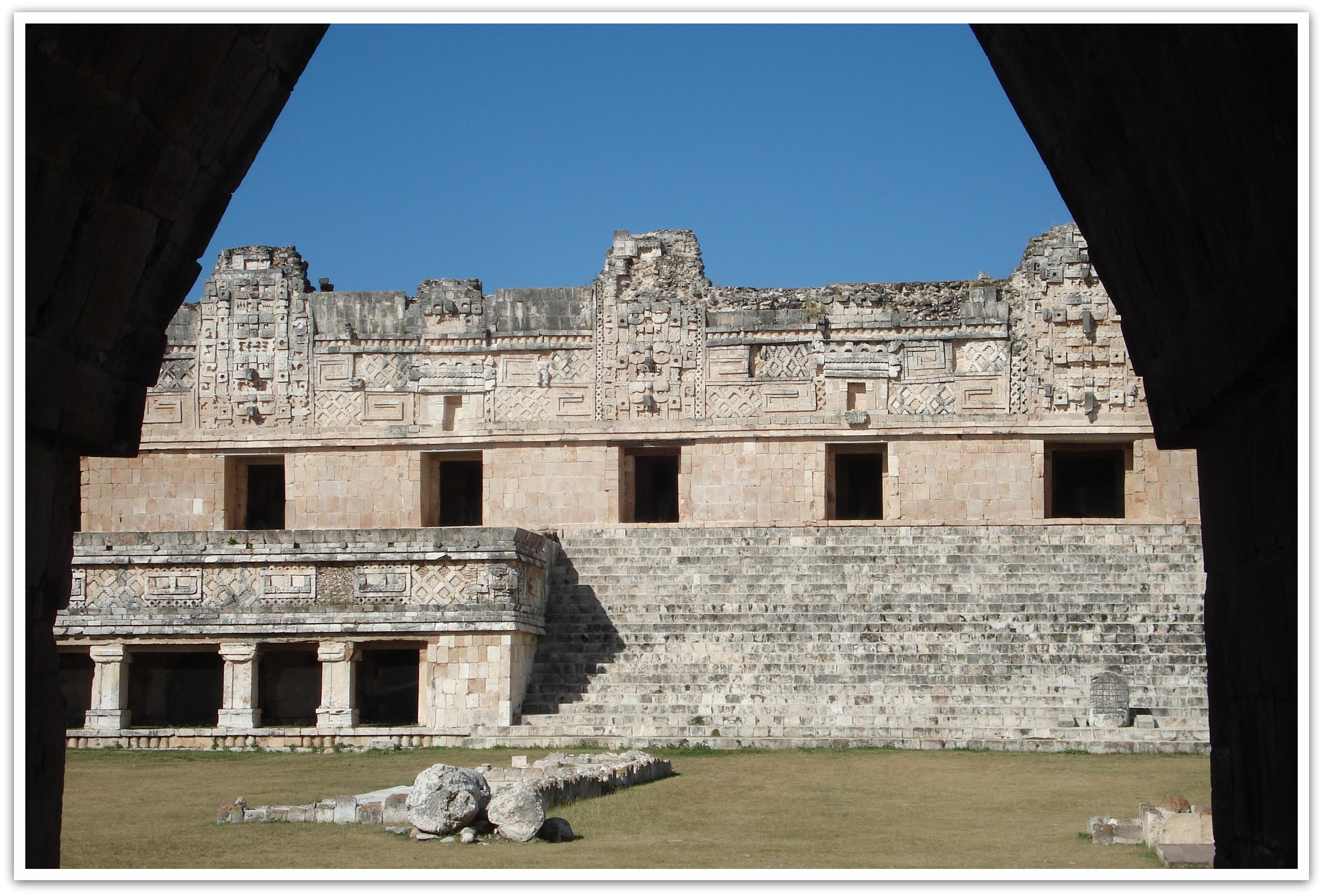 Maya Tempel Uxmal zwischen Mérida und Campeche