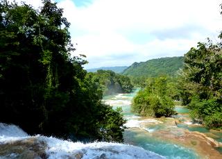Waterfalls Agua Azul Chiapas