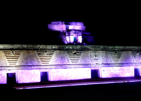 Light & Sound Show in Uxmal, Yucatan