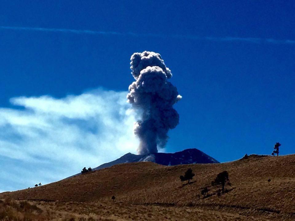 Vulkanausbruch im mexikanischen Hochland